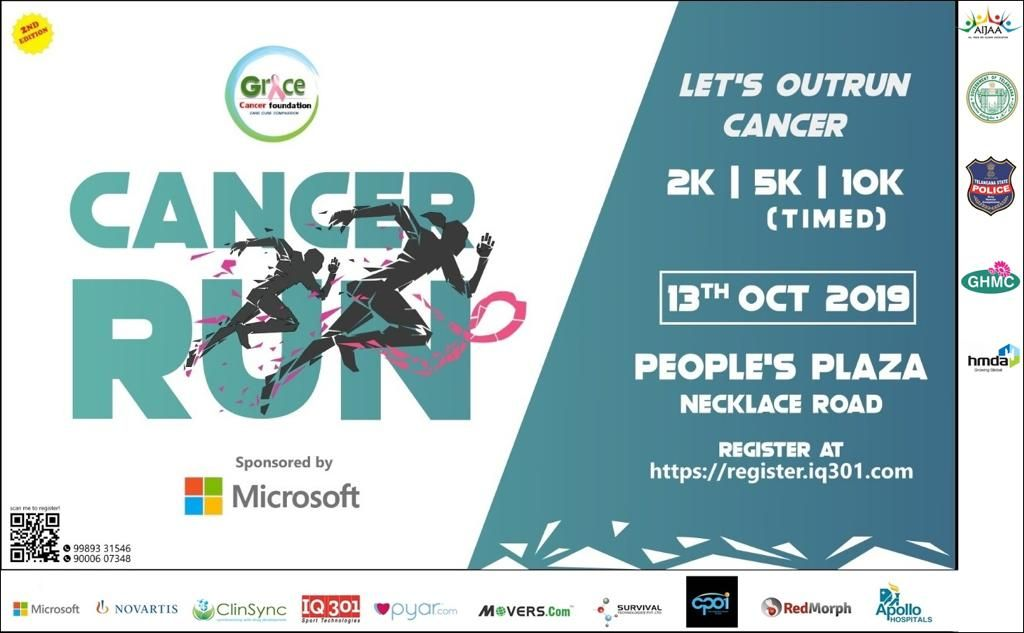 Cancer Run Hyderabad 2019 photos, Download Race photos, Finishers medal photos, Finisher video, Finish line photographs, Race photography, Event photography, Candid moments of Race participants